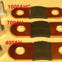 The copper terminals for 400AH, 700AH, 1000AHC cells