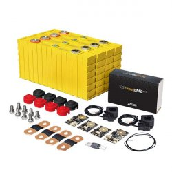 LiFePO4 12V, 1.56kWh LiFeYPO4 lithium battery set with 130Ah cells, BMS mobile monitoring Winston
