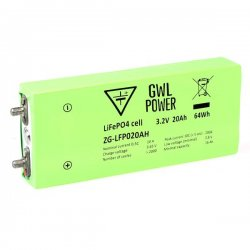 LiFePO4 High Power Cell (3.2V/20Ah) - Alu case, CE