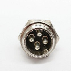 SPARE PART: EVBIKE - 4 PINs - oposite, panel version (MALE)