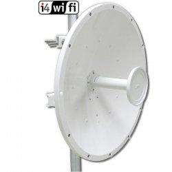 Rocket Dish 5 GHz Duplex MIMO antenna, 30 dBi, 2x RSMA, accesories