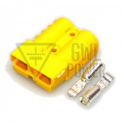DC Connector 12V/50A 2 pins - SA50 Yellow