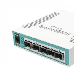 Cloud Router Switch 106-1C-5S, 5x SFP, 1x SFP+, 1x Combo, Gbit, vč. L5