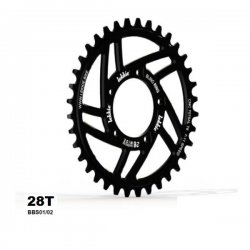 Chainwheel Lekkie for central ebike motor 28T BBS01/02