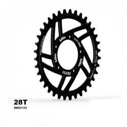Chainwheel Lekkie for Mid-Drive motor 28T BBS01/02