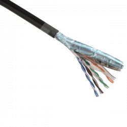 305 m of FTP outdoor cable Cat5E, wire, PE - black, shielded