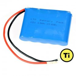 LTO1865 Battery: 12V 1300 mAh, 15.6Wh (Lithium Titanate)