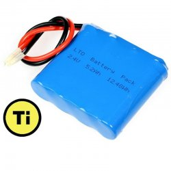 LTO1865 Rechargeable Battery: 2.4V 5200 mAh (Lithium Titanate)