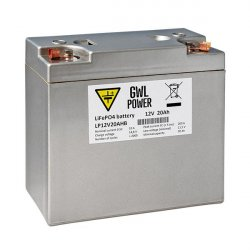 LiFePO4 12V, 20Ah Lithium High Power Battery use LiFePO4 technology with capacity 20Ah.