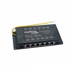 Gigabit shielded 6-port POE panel