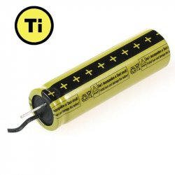 LTO1865 Rechargeable Cell: 2.4V 1300 mAh (Lithium Titanate)