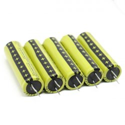 Pack of 5pcs: LTO1865 Rechargeable Cell: 2.4V 1300 mAh (Lithium Titanate)