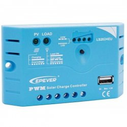 Solar PWM Regulator 12/24 V, 20A, Input 30V/50V, USB (LS2024EU)