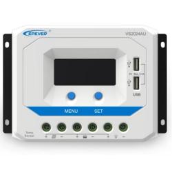 Solar PWM Controller 12/24 V, 30A, Input 50V, USB (VS3024AU)