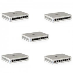 UniFi Switch - 8x Gbit LAN, 1x PoE In, 1x PoE Out, 5-pack