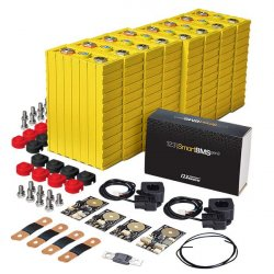 LiFePO4 12V, 1.2kWh LiFeYPO4 lithium battery set with 100Ah cells, BMS mobile monitoring Winston