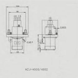 EV-Power   DC Power Contactor 400A, Coil 12V
