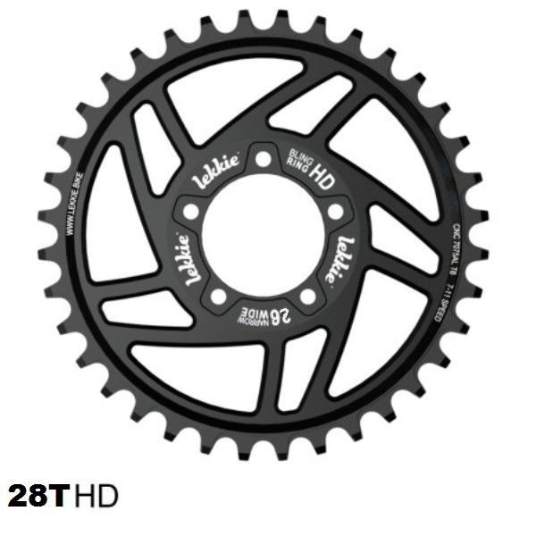 Chainwheel Lekkie for Mid-Drive motor 28T BBSHD