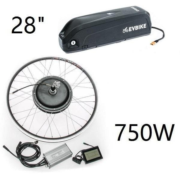 "Set motor with rim 28"" Front drive, with frame battery 48V 13Ah"
