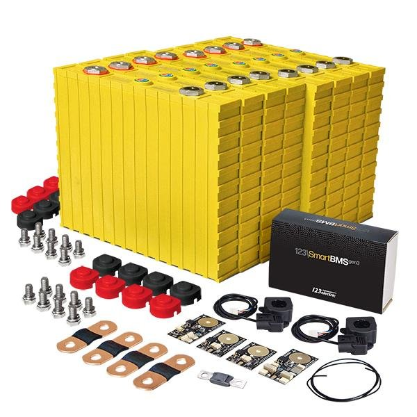 LiFePO4 12V, 3.6kWh LiFeYPO4 lithium battery set with 300Ah cells, BMS mobile monitoring Winston