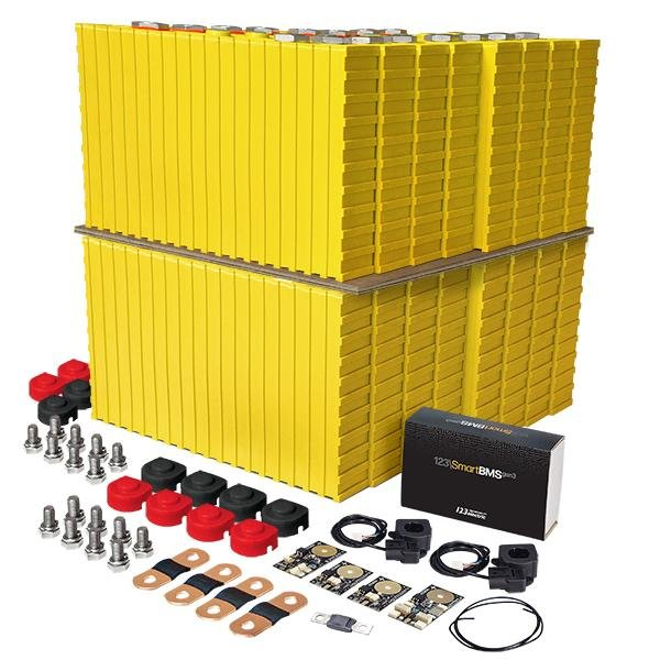 LiFePO4 12V, 4.8kWh LiFeYPO4 lithium battery set with 400Ah cells, BMS mobile monitoring Winston